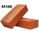 Кирпич керамический полнотелый М100