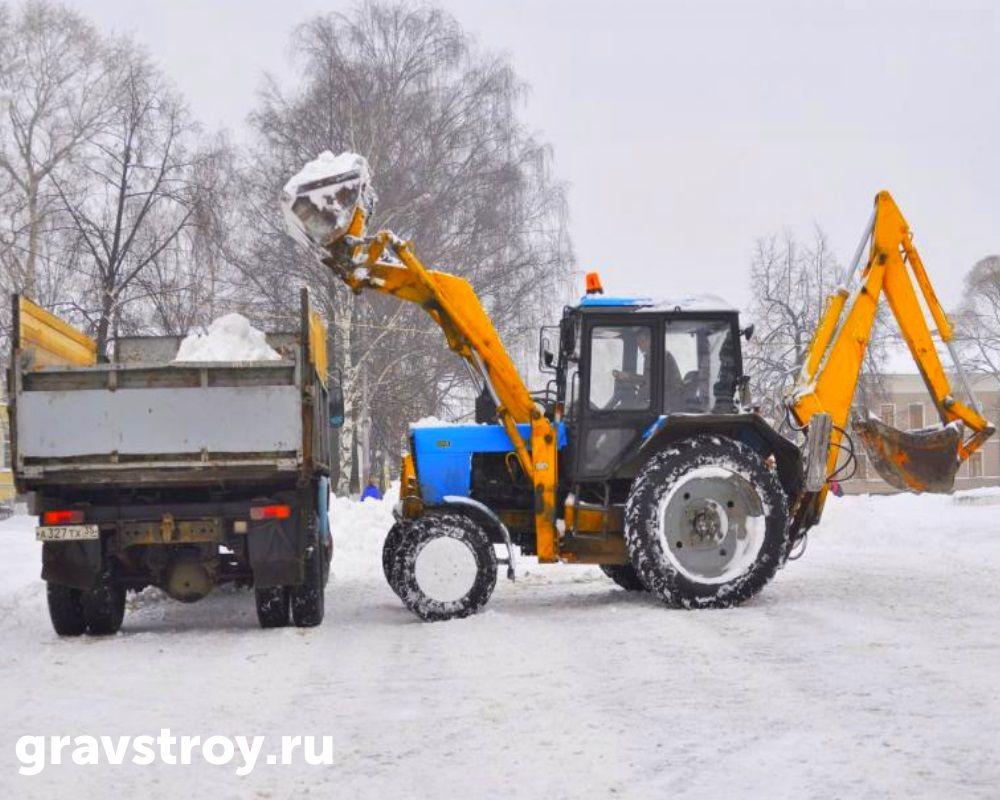 уборка снега трактором чебоксары